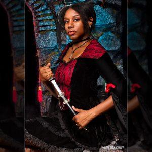 Sexy Vampire at Queen City Pinups 2017 Halloween Spooktacular